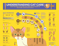 1806 Understanding Cat Care Infographic Poster