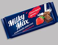 Milky Max chocolate branding packaging