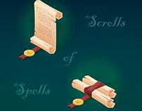 Scrolls of Spells VECTOR
