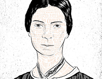 Emily Dickinson- B&W/Poem Illustration