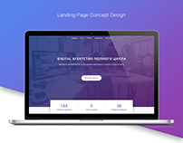 Landing page concept - Digital Creative Agency