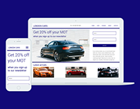 London Cars Dealership UX/UI Design