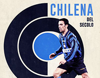 Chilena - Illustration - Y. Djorkaeff - FC Inter Milan