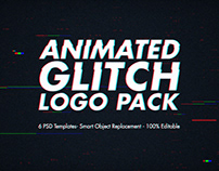 Animated Glitch Logo Pack - Photoshop Templates (COPIA)