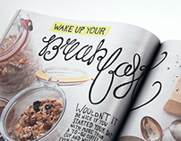 Hand Drawn Type for Bon Appetit Magazine