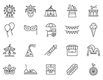 20 Carnival Vector Icons