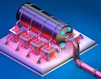 Sci-Fi 3D Oil Pumper