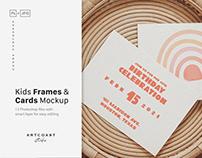 Kids Frames & Cards Mockup