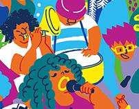 SJMADE Holiday Poster illustration 2016