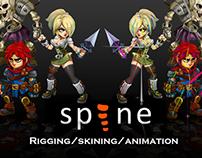 Spine - Bones Animation Samples