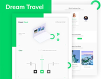 """Dream Travel"" Agency Landing Page Concept."