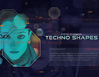 Techno Shapes Digital Slideshow