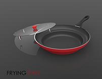 Oil splatter proof frying pan