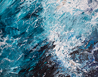 """""""SEA"""" acrylic on canvas 30x40"""