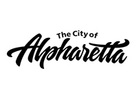 Hand lettering logo exploration for Alpharetta, Georgia