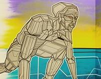 """""""Robot Love"""" Tape Art Interieur Design"""