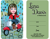 Business Cards for Lara Davis, hairdresser