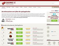 Casino affiliate - responsive design