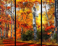 Autumn Glory -  Triptych