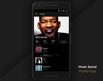 #dailyui #006 #profile page