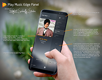 Google Play Music Edge Panel - Samsung