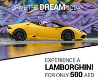 Social Media Post for Rent a Car (Lamborghini) Promo