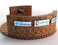 Saludcoop stand