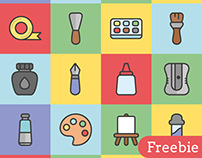 Free Art Tools Vector Icons