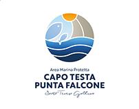 AMP CAPO TESTA - PUNTA FALCONE Logo Proposal