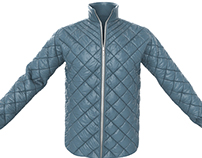 Mens Quilted Marvelous Designer Jacket