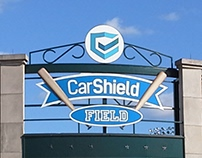 Car Shield Field Signage