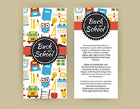 Back to School Vector Banners and Flyers