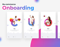 On-boarding screens for E-commerce & Re-commerce
