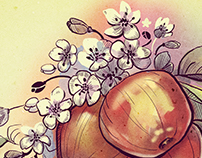 Apple blossom illustration