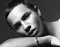 Olivier Rousteing's portrait for Dsection Magazine