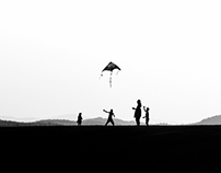 Playing with a kite - Zlatibor mt. -