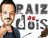Ilustração vocalista Raiz de Dois (banda de rock)