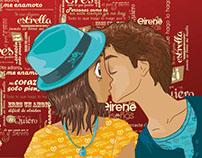 Beso Ilustración, diseño de personajes