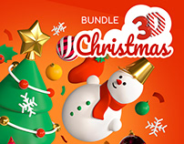Christmas and New year 3d icons & illustrations