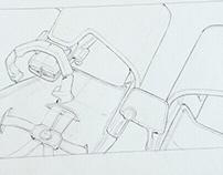 WIP sketches Polestar halo car