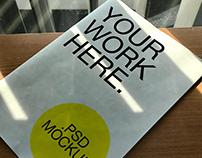 A4 Print Book Cover Mockup