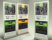 Corporate Roll Up Banner Design Concept