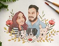 Couple portrait commission