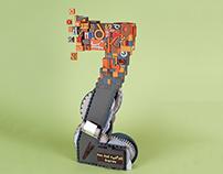 Letterpress Z - 3D paper type