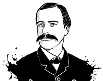 Vector portrait and typography of Georgi Sava Rakovski