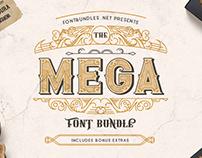 The Mega Font Bundle - Great Deal
