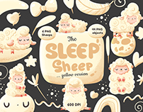 The Sleep Sheep clipart, design for nursery