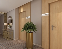Mecca Hotel -Rooms Corridor & Elevator Lobby