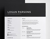 Resume/CV - 'Logan'
