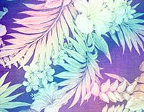 Happy Aloha Tropical Pattern
